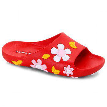 Flower Pattern Flat Heel Slippers