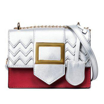 Chains Color Block Crossbody Bag