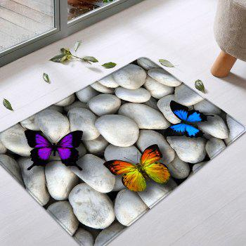 Butterfly On The Stone Pattern Indoor Outdoor Area Rug