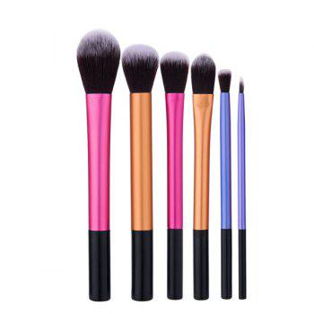 6Pcs Portable Makeup Brushes Set