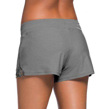 Drawstring Swimming Boyshort - Gris L