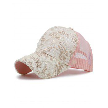 Lacework Sequin Mesh Splicing Baseball Hat