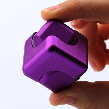 Alloy Fidget Spinner Novelty Magic Cube Stress Relief Toy - PURPLE PURPLE
