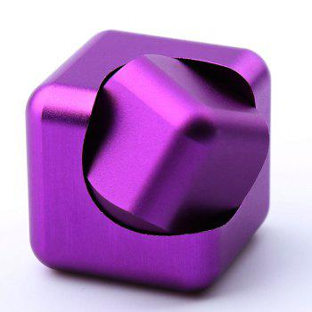 Alloy Fidget Spinner Novelty Magic Cube Stress Relief Toy - Pourpre