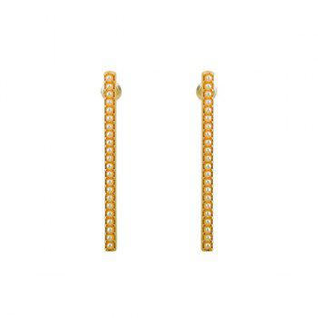 Faux Pearl Geometric Bar Earrings