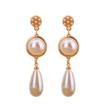 Statement Artificial Pearl Teardrop Earrings