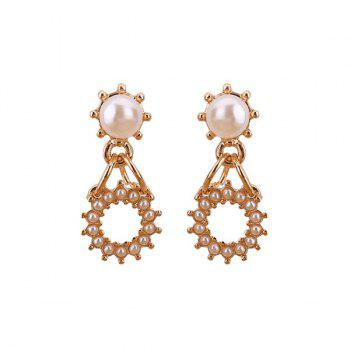 Artificial Pearl Round Earrings