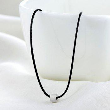 PU Leather Rope Cube Collarbone Necklace