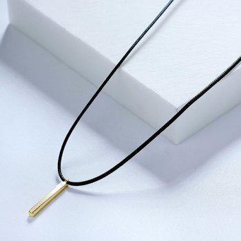 PU Leather Rope Bar Pendant Necklace
