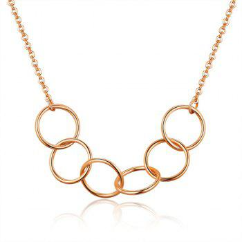 Metal Alloy Circles Collarbone Necklace
