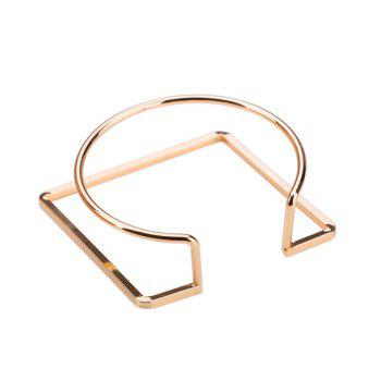 Metal Alloy Circle Geometric Cuff Bracelet