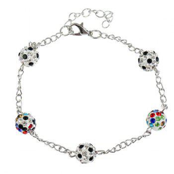 Rhinestone Ball Shape Chain Bracelet