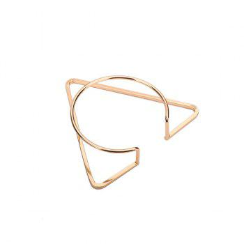 Brass Alloy Circle Triangle Geometric Cuff Bracelet