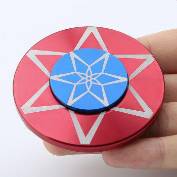 Metal Anti Stress Round Finger Gyro Spinner - RED RED