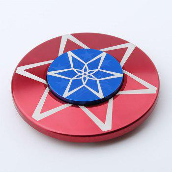 Metal Anti Stress Round Finger Gyro Spinner - RED 6*6*1.2