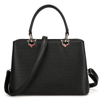 Concise Convertible Embossed Handbag