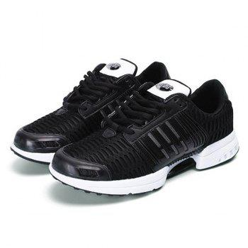 Mesh Breathable Faux Leather Insert Athletic Shoes - 41 41