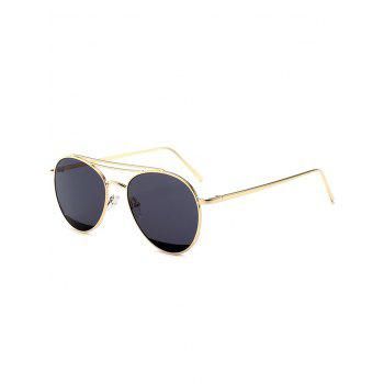 Metallic Crossbar Anti UV Pilot Sunglasses
