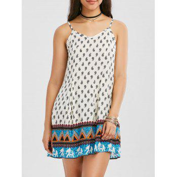 Bohemian Paisley Mini Slip Dress