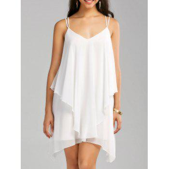 Layered Crisscross Chiffon Slip Dress