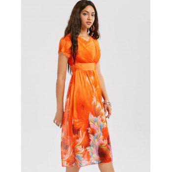 Bohemian Chiffon Midi Floral Dress - JACINTH M