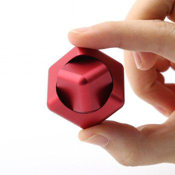 Focus Toy Alloy Fidget Cube Spinner - RED
