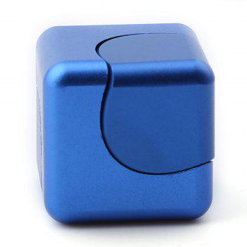 Focus Toy Alloy Fidget Cube Spinner - BLUE