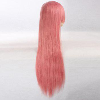 Ultra Long Naruto Cosplay Side Bang Layered Straight Synthetic Anime Wig - PINK SMOKE