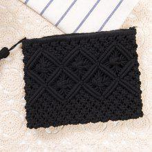 Crochet Tassel Clutch Bag