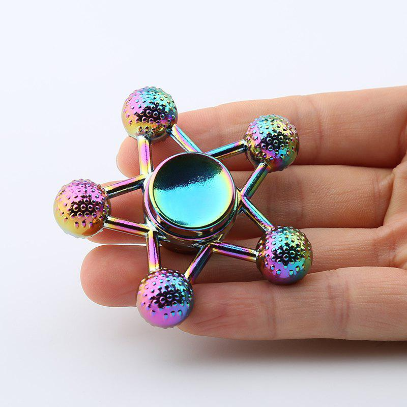 Ball-bar Star Shape Colorful Fidget Metal Spinner - COLORMIX
