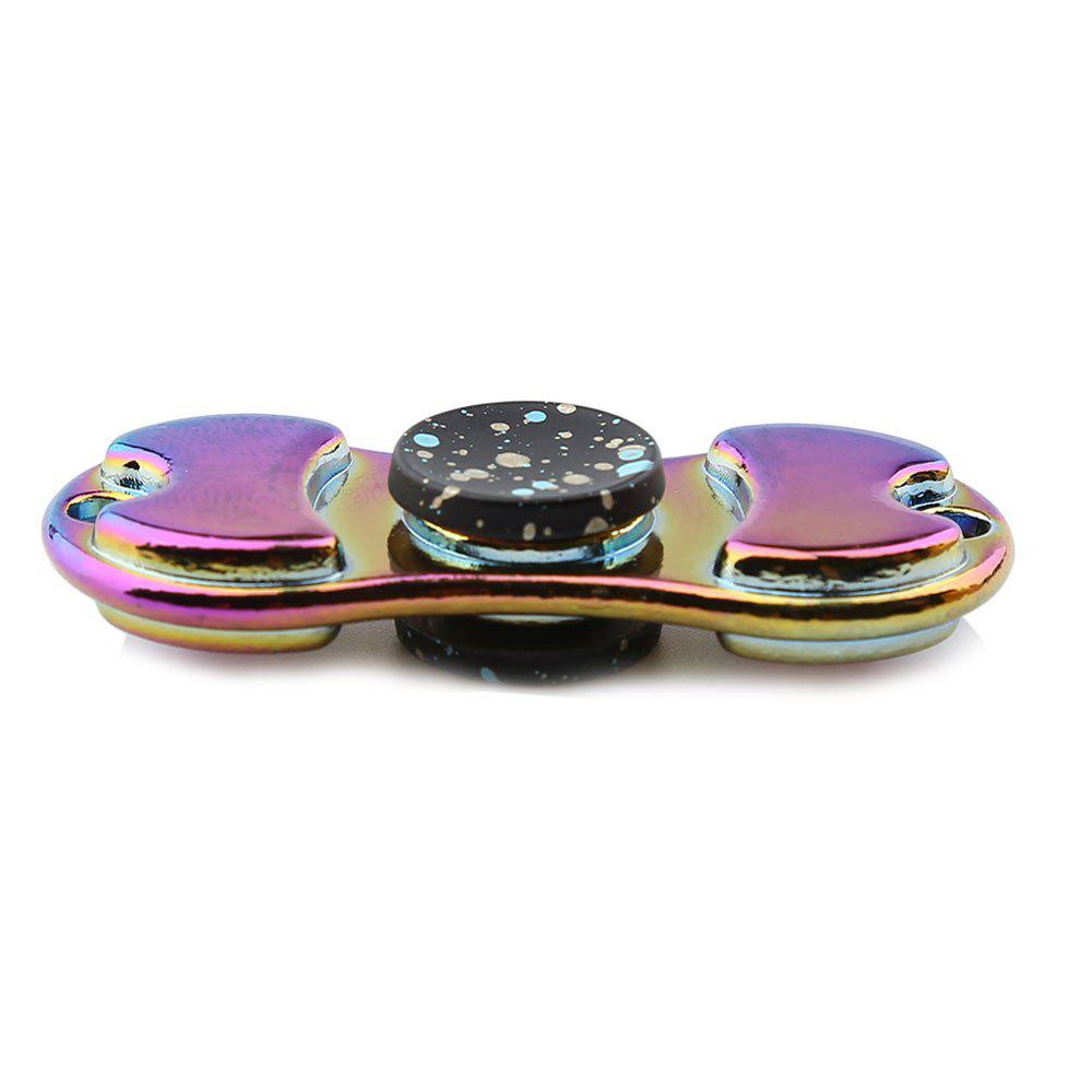 Alloy Colorful Finger Gyro EDC Toy Fidget Spinner - Noir