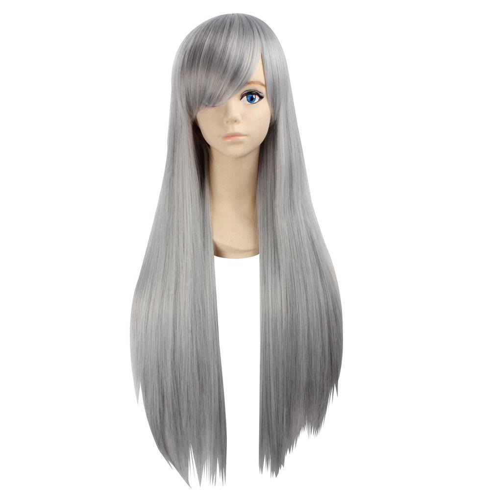 Ultra Long Naruto Cosplay Side Bang Layered Straight Synthetic Anime Wig mac makeup cosplay wig ll 100cm double clip in ponytails silver white long straight synthetic pureca anime cosplay wig