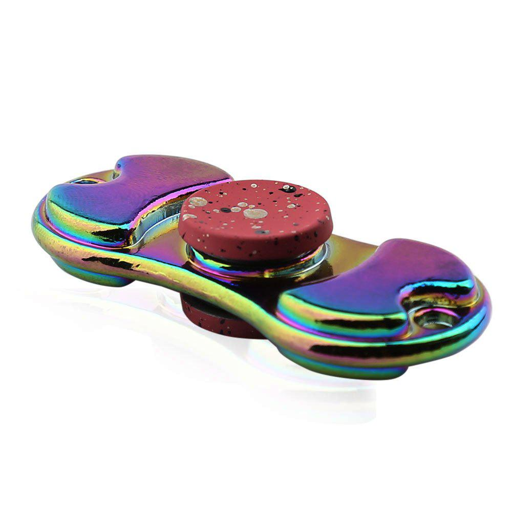 Alloy Colorful Finger Gyro EDC Toy Fidget Spinner - RED