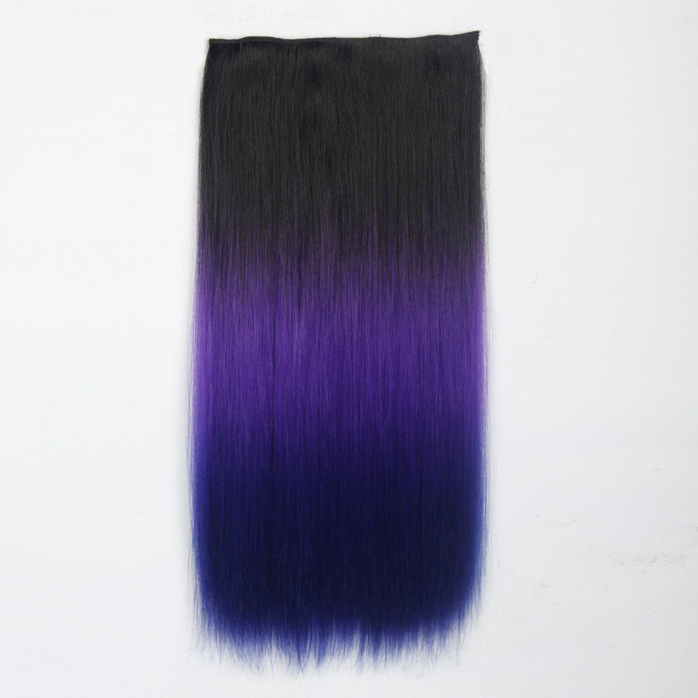 2018 1pc Long Straight Multi Color Ombre Clip In Hair Extensions