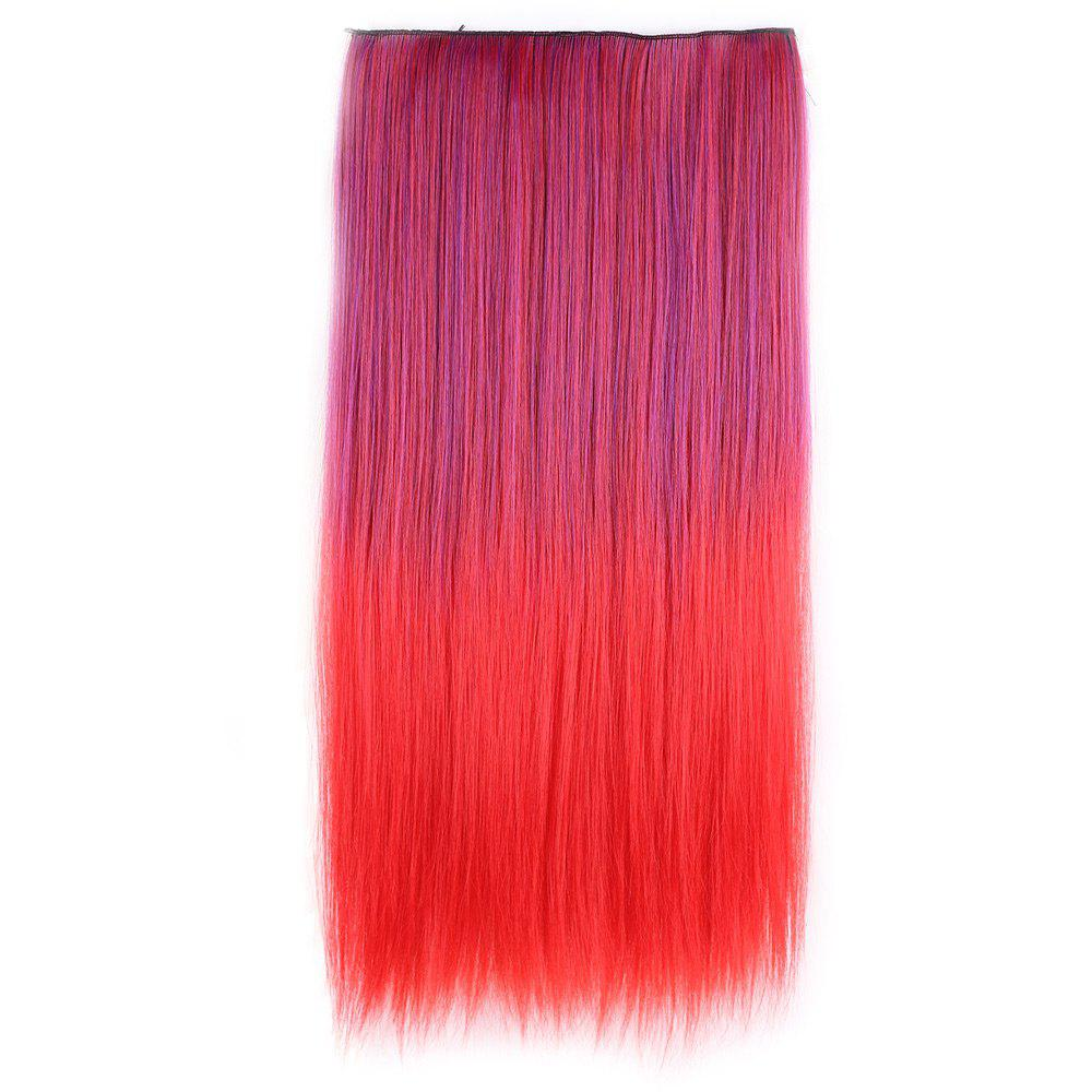 Clip In Short Straight Ombre Hair Extensions - RED