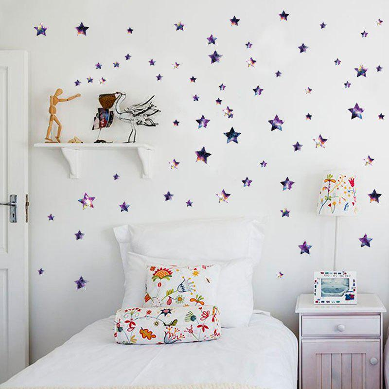 Sticker amovible en vinyle DIY Star Nursery Wall - Pourpre 45*50CM