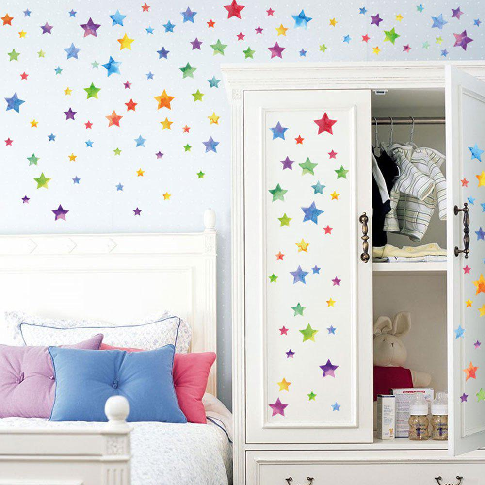 Colorful Kids Rooms: Colorful Star Kids Room DIY Wall Decor Sticker, COLORMIX