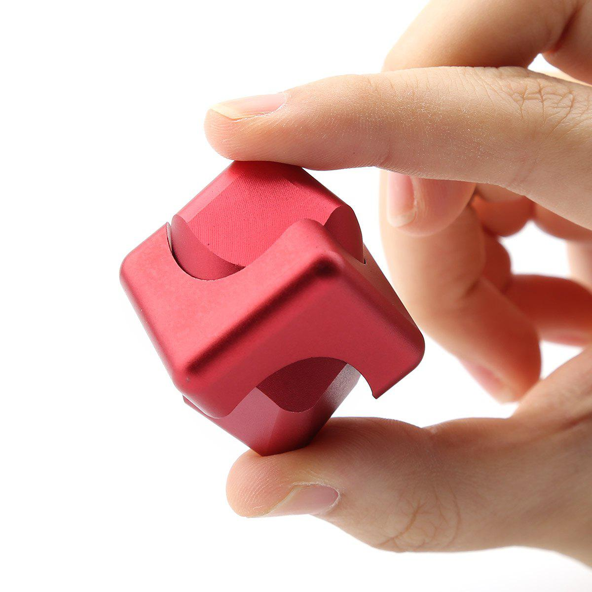 Focus Toy Alloy Fidget Cube Spinner - Rouge