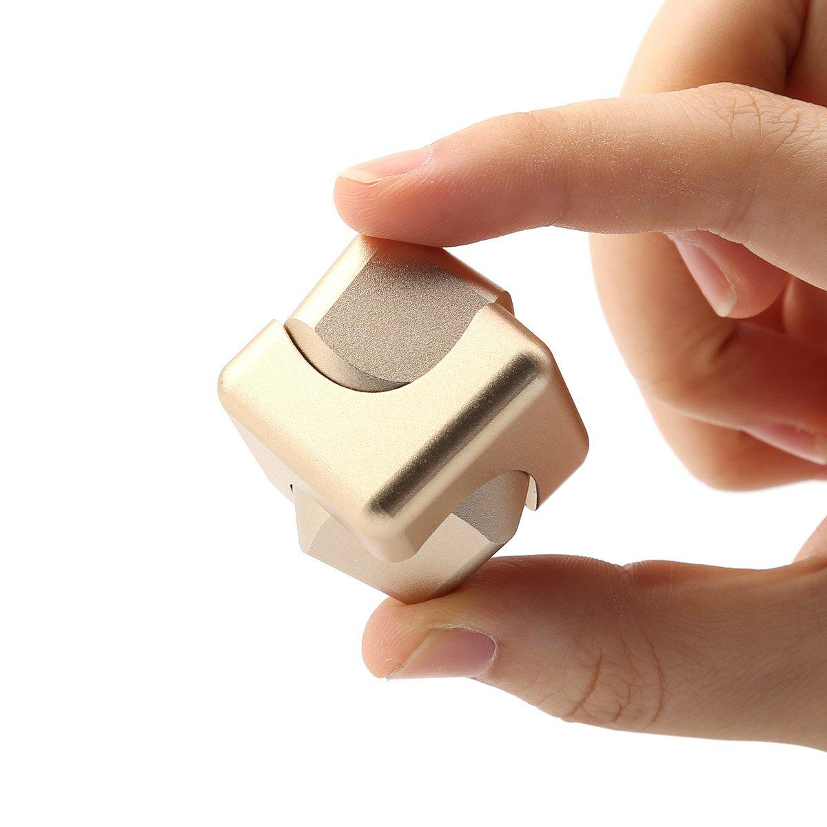 Focus Toy Alloy Fidget Cube Spinner - GOLDEN