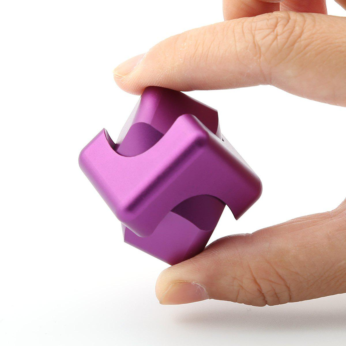 Focus Toy Alloy Fidget Cube Spinner - Pourpre