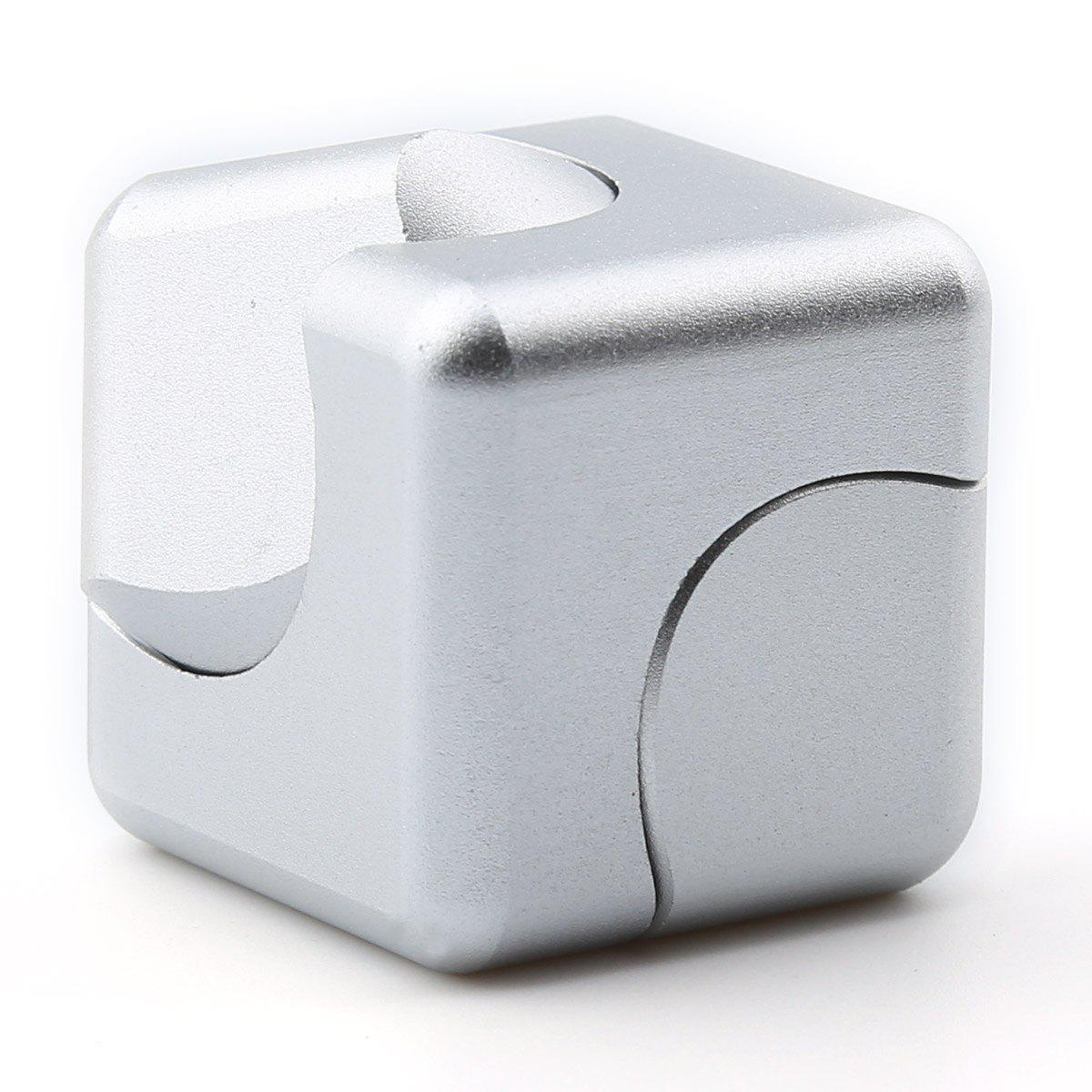 Focus Toy Alloy Fidget Cube Spinner - SILVER