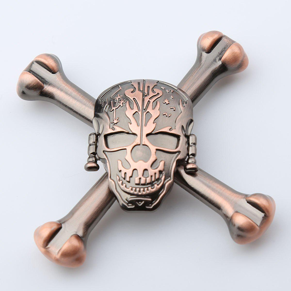 EDC Metal Skull Design Finger Toy Fidget Spinner - RED BRONZED 7.5*7.5*1.5CM