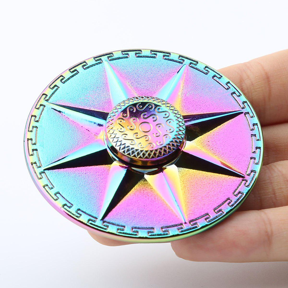 Round Rainbow EDC Finger Spinner Fidget Toy - Coloré 6*6*1.5CM