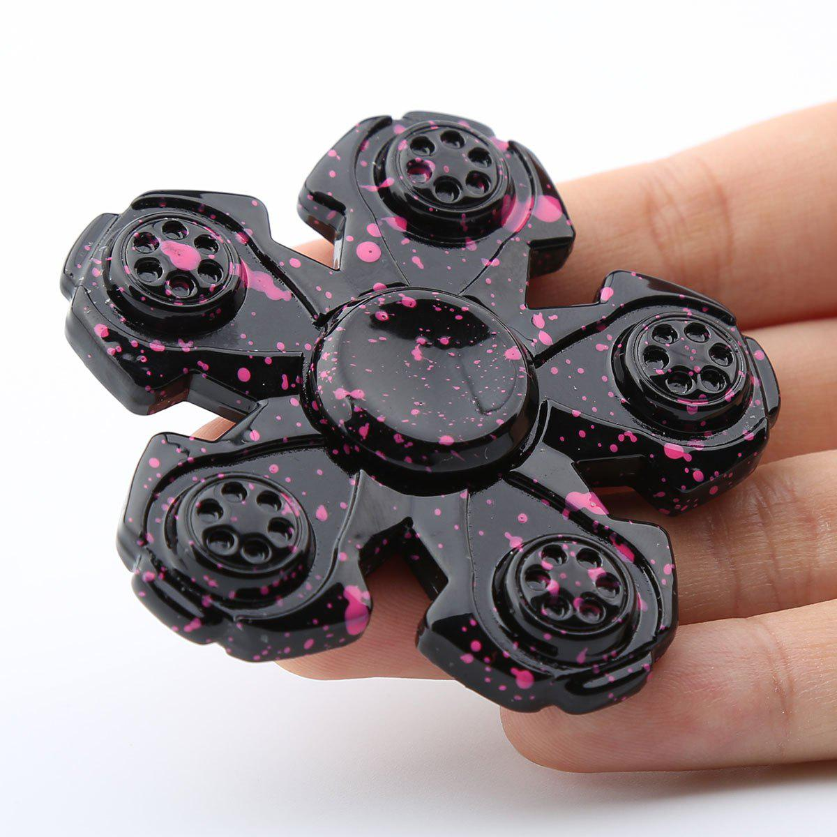 High Speed Bearing Fidget Spinner For Adult or Kids - BLACK 6.5*6.5*1.2CM