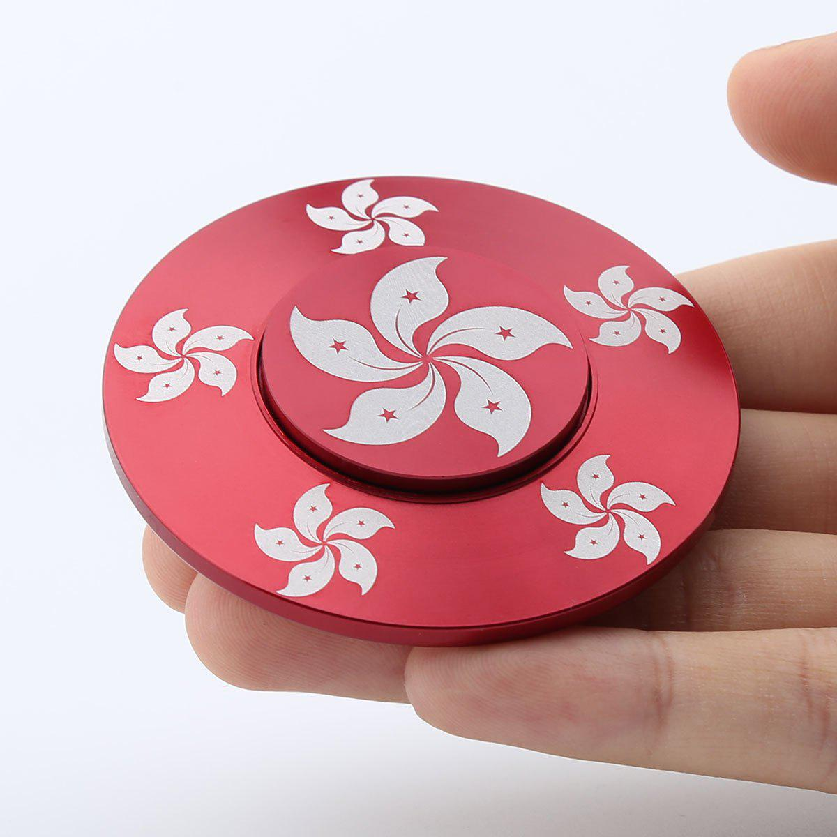Bauhinia Relaxation Gift Fidget Toy Hand Spinner - RED 6*6*1.2CM