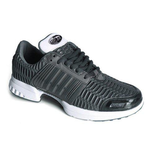 Mesh Breathable Faux Leather Insert Athletic Shoes - DEEP GRAY 43