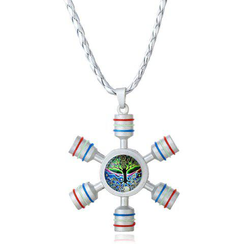 Decoration Tree of Life Fidget Spinner Necklace - SILVER