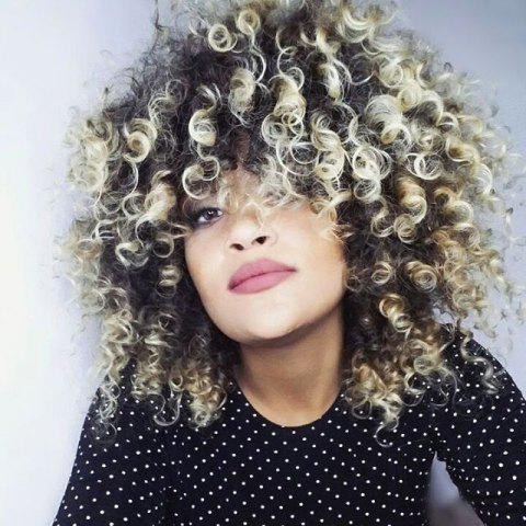 Colormix Shaggy Medium Afro Curly Synthetic Wig - COLORMIX