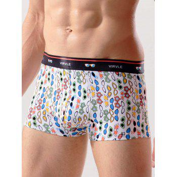 Geo-print Stretch Boxer Brief Swimming Trunks - COLORMIX 2XL