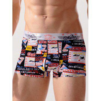 Graphic Print Surfing Swimming Trunks